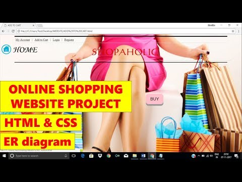 ONLINE SHOPPING WEBSITE  || HTML & CSS || WEBSITE PROJECT || BLOCK & ER DIAGRAMS || Site Map || Ppt