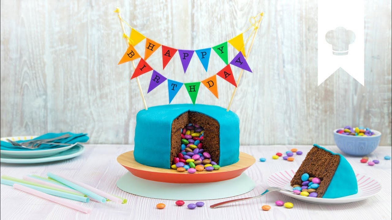 Piñata Kuchen Selber Machen I Leckere Geburtstagsüberraschung