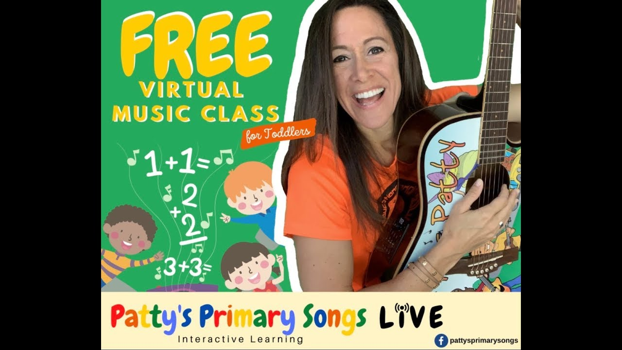 LIVE Toddler Music Class with Patty Shukla 10am EST | Virtual Class for Children