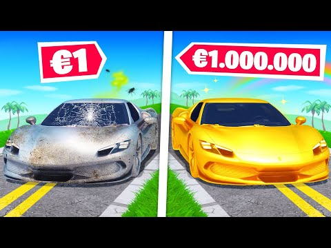 Ferrari à 1€ vs Ferrari à 1.000.000€ sur FORTNITE