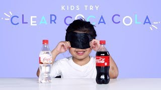 Kids Try Clear Coca Cola | Kids Try | HiHo Kids
