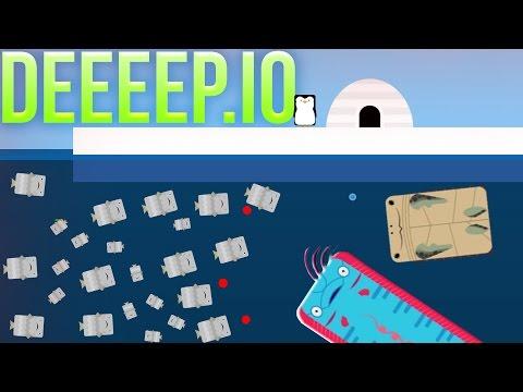 Deeeep.io - Sea Turtles, Schooling Fish & The Dreaded Oarfish! - Game Update - Deeeep.io Gameplay
