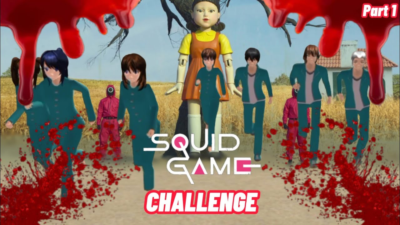 Squid Games 1 || Sakura School Simulator Horor || Film Horor || Hantu || Sakura Horor