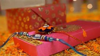 Closeup shot of handmade rakhi on the traditional festival of Raksha Bandhan
