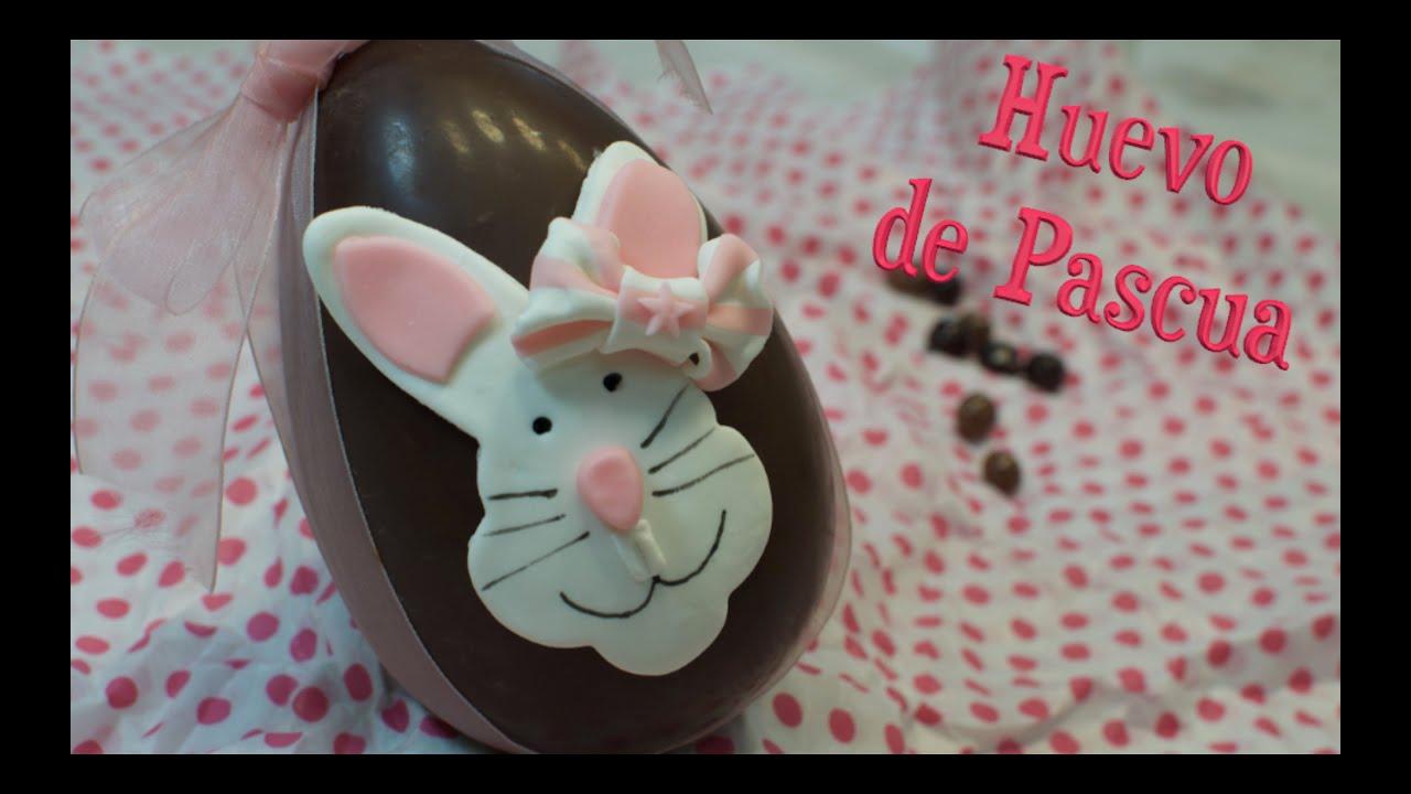 Huevo de Pascua | Conejo de Fondant | Como hacer huevo de Pascua ...
