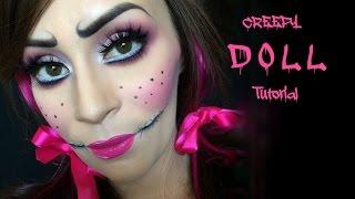 Creepy DOLL l Halloween tutorial Thumbnail