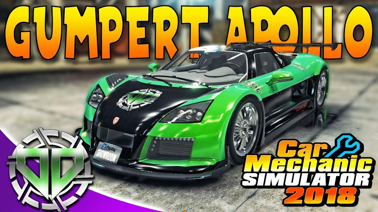 Car Mechanic Simulator 2018 : Gumpert Apollo S Restoration & New