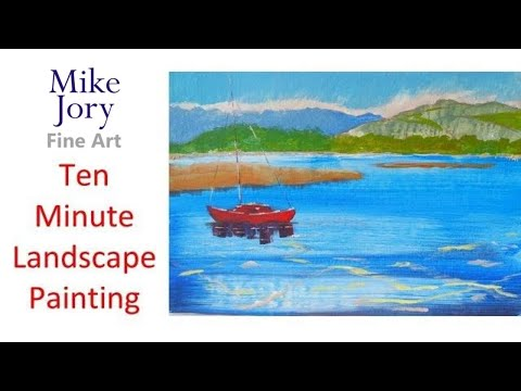 ten minute landscape painting