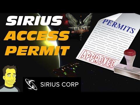 Elite Dangerous: Getting the Sirius Permit