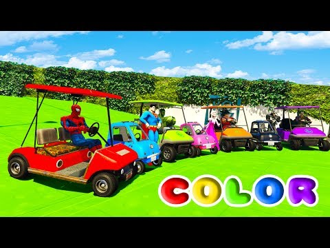 Thumbnail: FUN LEARN COLOR SMALL POLICE CARS w/ Superheroes 3D Animation for Children and Babies