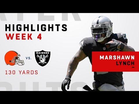 Marshawn Lynch Racks Up 130 Yards Rushing