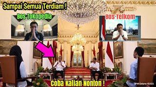 Viral ! Gaya Bicara Presiden Jokowi di Hadapan Bos Tokopedia dan Bos Telkom Mendapat Perhatian Media
