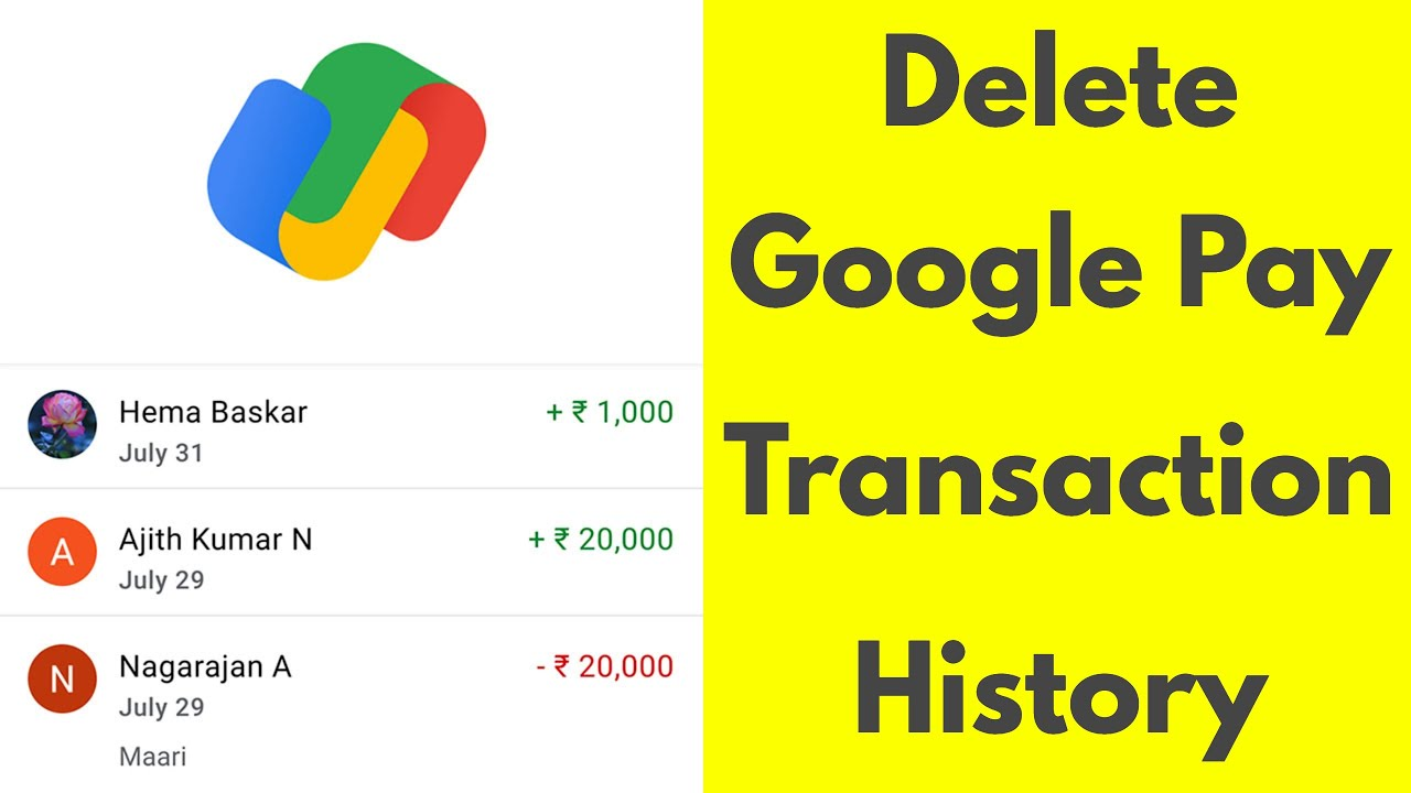 How To Delete Google Pay Transaction HistoryRemove All Chat From GPay  App-19