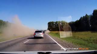 Страшное ДТП Бирск Уфа 22.07.2018 авария переворот