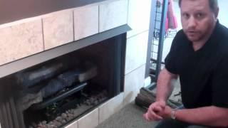 How to light gas log pilot lights. ~ Chattanooga, TN