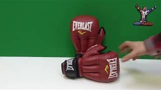 перчатки для рукопашного боя Everlast HSIF красные - кожзам. Обзор от магазина Спортфайтер!