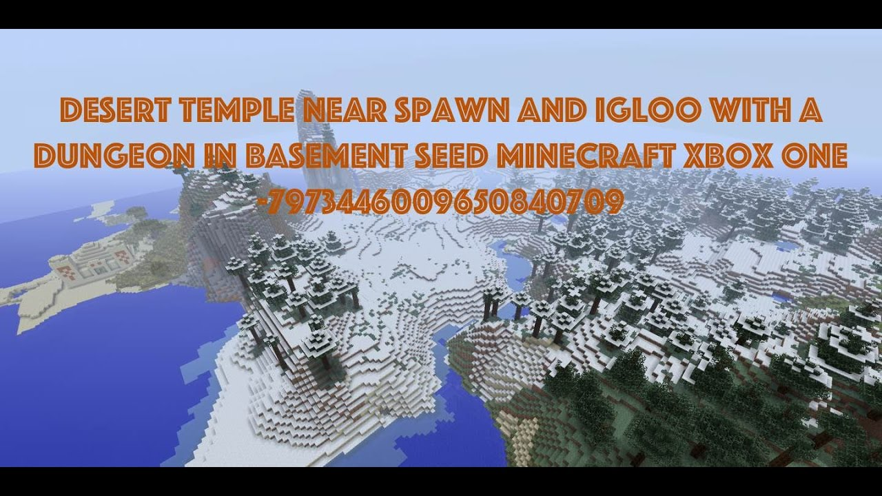 Desert Temple Near Spawn Igloo With A Dungeon In Basement Seed