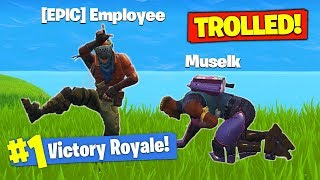 *TROLLED* By EPIC GAMES In Fortnite Battle Royale!