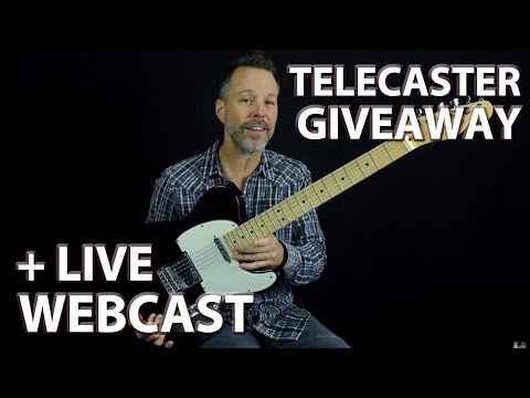 TELECASTER GIVEAWAY + Build a Solid Foundation in ANY Genre of Guitar (LIVE Webcast)