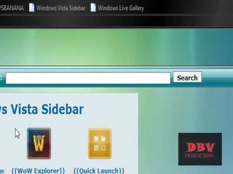 How to add Gadgets in the Windows Sidebar