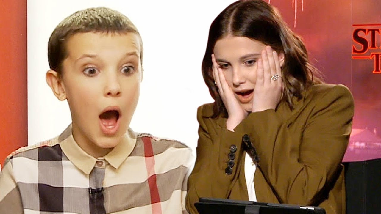 Watch Millie Bobby Brown React To Her First Stranger Things Interview Youtube