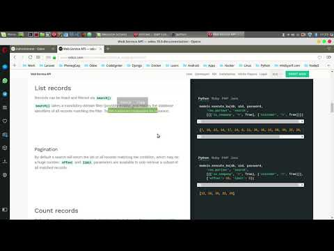 How to use Web Service Odoo 11 with XML RPC and Python Script