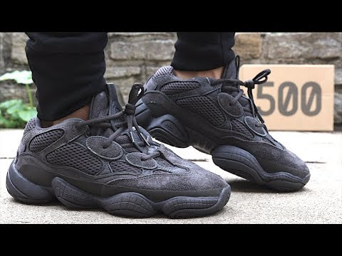 8ca653b9b Adidas Yeezy 500 Utility Black Unboxing   Review - YouTube