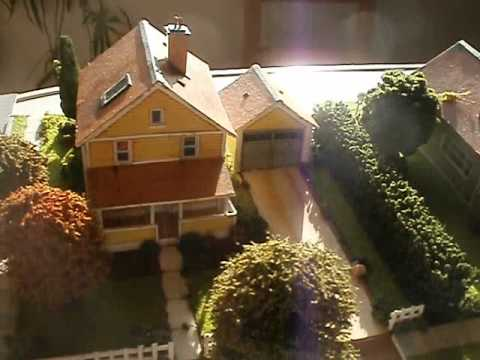 Model railroad scenery from print outs