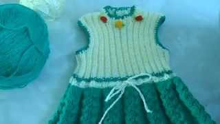 Платье связанное спицами на 1 год