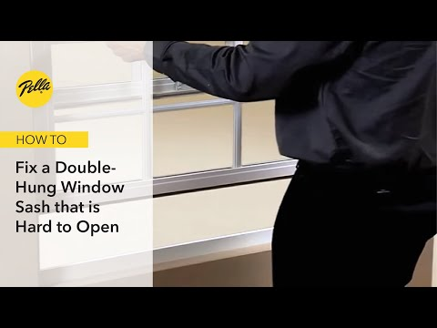 Double Hung Window Sash Hard To Raise Or Lower Youtube
