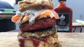 German Dumpling Burger - Youtube Burger Challenge - English Grill- And Bbq-recipe - 0815bbq