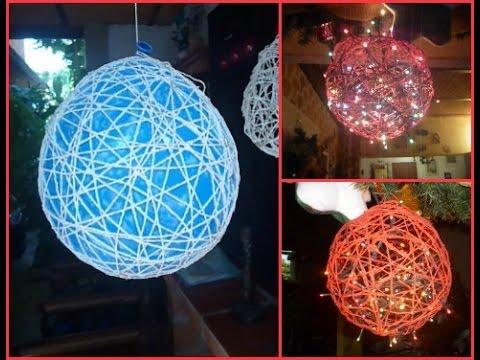 Decoraciones para navidad globo de hilo teresa for Decoraciones rusticas para navidad