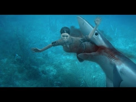 Shark attack great white shark attacks a rare shark for Naked fish sf