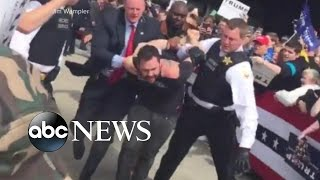 Trump Protester Rushes Stage at Ohio Rally