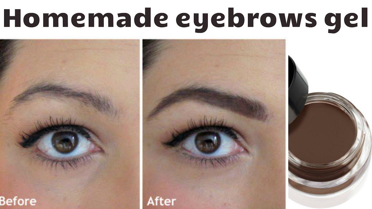Diy Eyebrow Gel Filler Smudge Proof Long Lasting Youtube