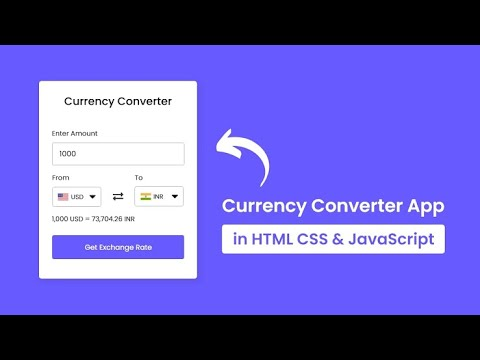 Create An Awesome Currency Converter By Using HTML And Javascript