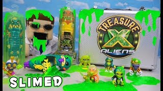 TREASURE X Aliens COVERED IN SLIME!! Ultimate Season 3 Unboxing Review