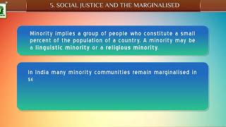 CLASS - 8TH POL SCIENCE NT IN SOCIAL SCIENCE CHAPTER - 5. MINORITIES