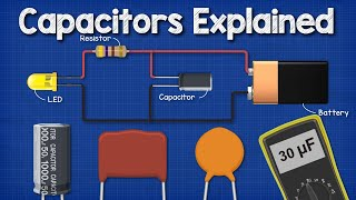 Capacitors Explained  The basics how capacitors work working principle