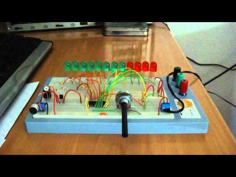 Vúmetro de leds + Mic Electret / Led Vumeter with Electret Microphone