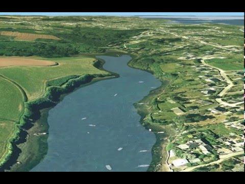 Geovisualisation animée de la zone cotière en 3D