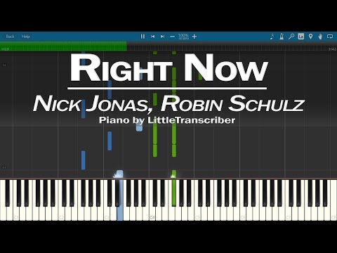 Nick Jonas, Robin Schulz - Right Now (Piano Cover) Synthesia Tutorial by LittleTranscriber