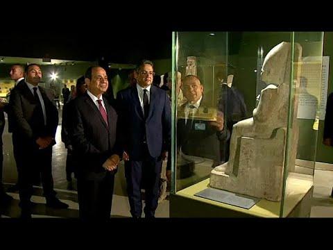 يورو نيوز:بالفيديو : السيسي يفتتح متحف سوهاج القومي