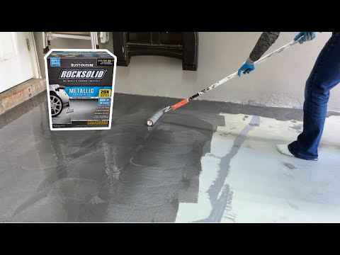 How to Install Rust-Oleum RockSolid Metallic Garage Floor Coating // Part 2