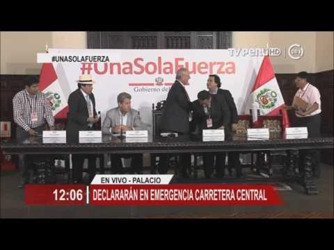 Mandatario: S/ 2,500 millones para reconstrucción, y Carretera Central será declarada en emergencia