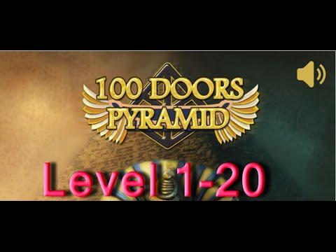 100 Doors Pyramid Level 1 - 20 Walkthrough прохождение