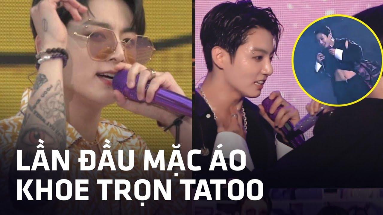 NÓNG BỎNG TAY: Jungkook (BTS) lần đầu diện Crop Top, khoe full không che toàn bộ hình xăm trên ....