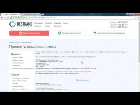 Как оплатить домен сайта