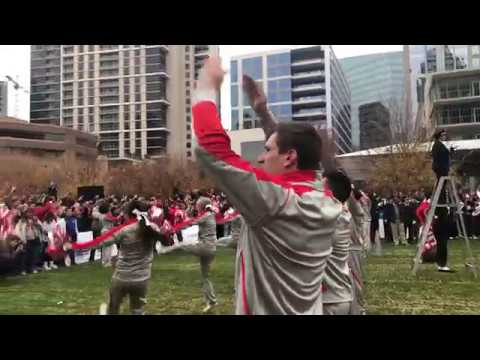 Ohio State Marching band performs Hang on Sloopy