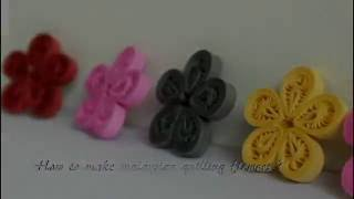 Quilling Malaysian flower - How to make Beautiful Quilling Flower - Paper Art Quilling